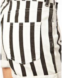 Just Female | White Stripe Shorts | Lyst