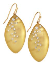 Alexis Bittar | Metallic Medium Crystal-Dust Lucite Leaflet Earrings (Made To Order) | Lyst