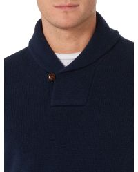 Howick - Blue Shackleton Shawl Neck Jumpers for Men - Lyst