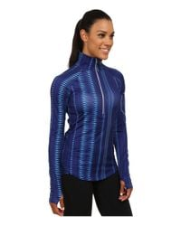 Under Armour | Blue Ua Fly Fast Printed 1/2 Zip | Lyst
