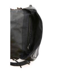 Shashi - Black Simone Saddle Bag - Beige - Lyst