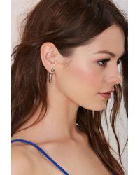 Nasty Gal | Metallic Tusk Jacket Earrings | Lyst