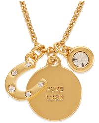 kate spade new york | Metallic 12k Gold-plated Horseshoe Charm Pendant Necklace | Lyst
