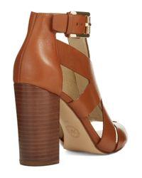 MICHAEL Michael Kors | Brown Anya Open Toe Sandals | Lyst