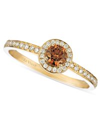 Le Vian | Brown Chocolate And White Diamond Circle (3/8 Ct. T.w.) In 14k Gold | Lyst