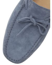 Tod's - Blue Gommino 122 Suede Driving Shoes for Men - Lyst