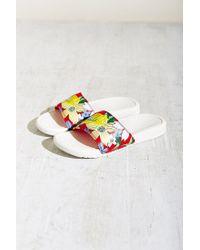 Nike | Red Benassi Slide Sandal | Lyst