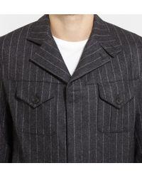 Kingsman - Gray Chalk Striped Wool Siren Suit for Men - Lyst