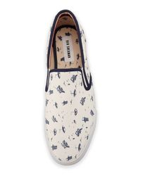Ben Sherman | White Buster Canvas Slip-on Shoe for Men | Lyst