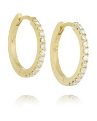 Jennifer Meyer | Metallic 18-karat Gold Diamond Hoop Earrings | Lyst