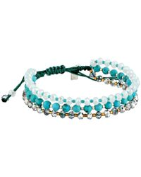 Chan Luu - Blue 6 34 Turquoise Mix Adjustable Single Bracelet - Lyst