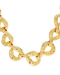 Alexis Bittar - Metallic Gold-Plated Rocky Textured Link Necklace - Lyst