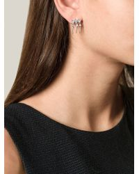 V Jewellery | Metallic Triple Cascade Earrings | Lyst