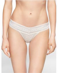 Calvin Klein | White Underwear Stretch Lace Thong | Lyst
