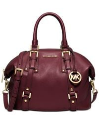 Michael Kors | Purple Michael Bedford Belted Medium Satchel | Lyst
