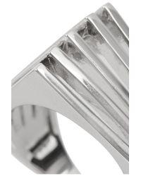 Noir Jewelry - Metallic Silver-Tone Ring - Lyst