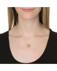 Ginette NY | Metallic Mini Lace Monogram Necklace, Gold | Lyst