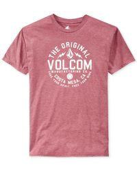 Volcom | Purple Schmolly T-Shirt for Men | Lyst