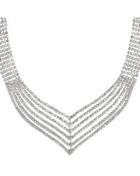 John Lewis | Metallic Statement Diamante Layered Necklace | Lyst