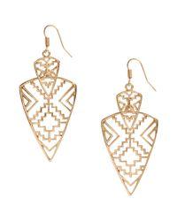 H&M - Metallic Long Earrings - Lyst