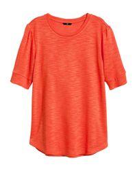 H&M | Orange Fine-Knit Top | Lyst
