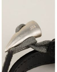 JvdF - Black Solid Toggle Bracelet for Men - Lyst