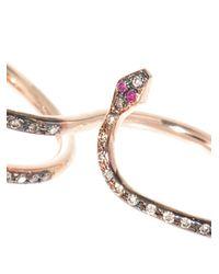 Ileana Makri - Pink Diamond, Ruby & Gold Snake Ring - Lyst