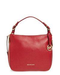 MICHAEL Michael Kors Red 'large Essex' Leather Shoulder Bag