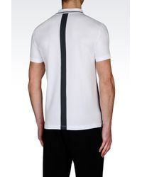EA7 | White Identity Line Jersey Polo Shirt for Men | Lyst