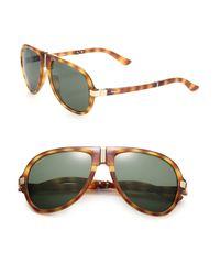 Ferragamo - Brown Folding Navigator Sunglasses for Men - Lyst