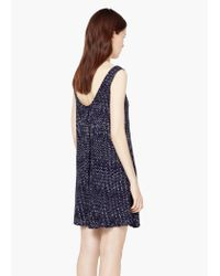 Mango - Blue Flowy Print Dress - Lyst