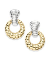 John Hardy | Metallic Bedeg 18k Yellow Gold & Sterling Silver Doorknocker Earrings | Lyst