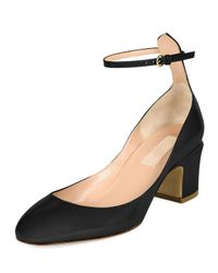 Valentino - Black Tango Patent-Leather Pumps - Lyst