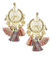 ASOS - Multicolor Rio Tassel Earrings - Lyst