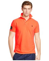Polo Ralph Lauren | Orange Us Open Custom-fit Big Pony Neon Polo Shirt for Men | Lyst