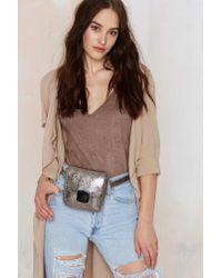 Nila Anthony - Go Wild Belt Bag - Metallic - Lyst