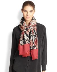 Tory Burch - Multicolor Birds Of Paradise Wool Scarf - Lyst