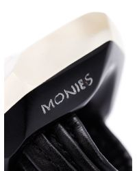 Monies - Black Oversized Faceted Ring - Lyst