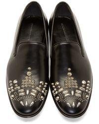 Alexander McQueen - Black Studded Loafers for Men - Lyst