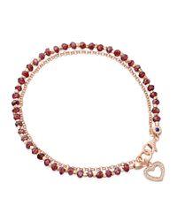 Astley Clarke - Red Spinel Heart Friendship Bracelet - Lyst