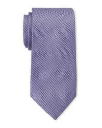 Saint Laurent - Purple Violet Textured Silk Tie for Men - Lyst