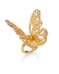 Alexander McQueen | Metallic Butterfly Ring | Lyst