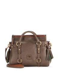 Dooney & Bourke - Gray Florentine Mini Leather Satchel - Lyst