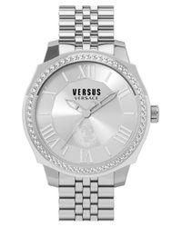 Versus - Metallic 'chelsea' Crystal Bezel Bracelet Watch - Lyst