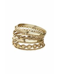 TOPSHOP | Metallic Etched Bangle Multipack | Lyst