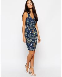 Sugarhill | Blue Daisy Print Shirt Dress | Lyst