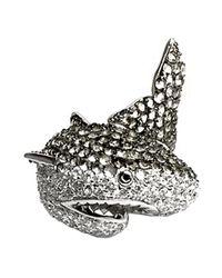 Noir Jewelry - Metallic Natalie The Shark Ring - Lyst