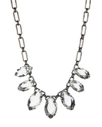 ABS By Allen Schwartz | Multicolor Smoke And Mirrors Marquis Necklace | Lyst