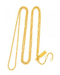 BaubleBar | Metallic Gold Long Link Chain-30"