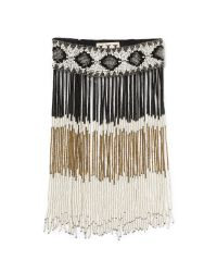 Haute Hippie - Natural Beaded Fringe Necklace - Antique Ivory - Lyst